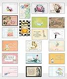 20 Stück Geburtstagskarten Glückwunschkarten Postkarten Set Vorteilspack/20 verschiedene hochwertige Geburtstagskarten mit 20 Umschlägen