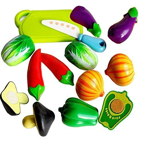 Stuff Jam Realistic Sliceable Vegetables Cutting Play Toy Set With Velcro - 228C2