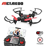 Metakoo Mini Drone con Telecamera Live Video WiFi FPV, M2 Quadricottero...