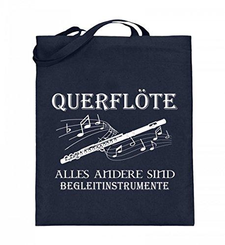 Hochwertiger Jutebeutel (mit langen Henkeln) - Querflöte Shirt · Musiker · Blasmusik · Musik · Musikinstrument · Musikverein · Hobby · lustig · Spruch · Pulli · Jacke · Hoodie · T-Shirt · Geschenk