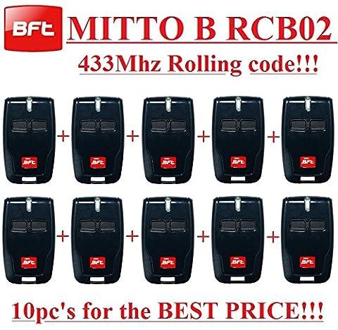 Telecommande Bft 02 - 10x BFT MITTO B rcb02Télécommande 2canaux, 433,92MHz