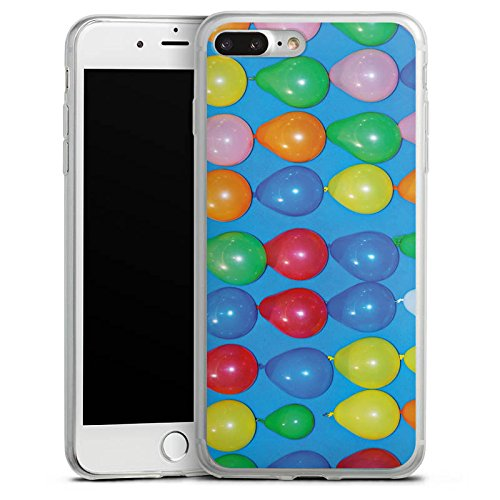 Apple iPhone 8 Slim Case Silikon Hülle Schutzhülle Ballons Jahrmarkt Spiel Silikon Slim Case transparent