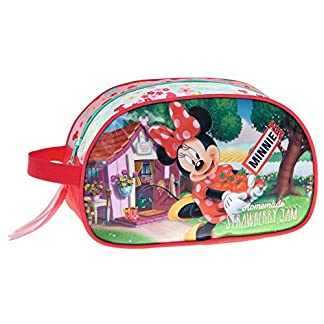 Disney Minnie Strawberry Neceser de Viaje, 3.36 litros, Color Rosa