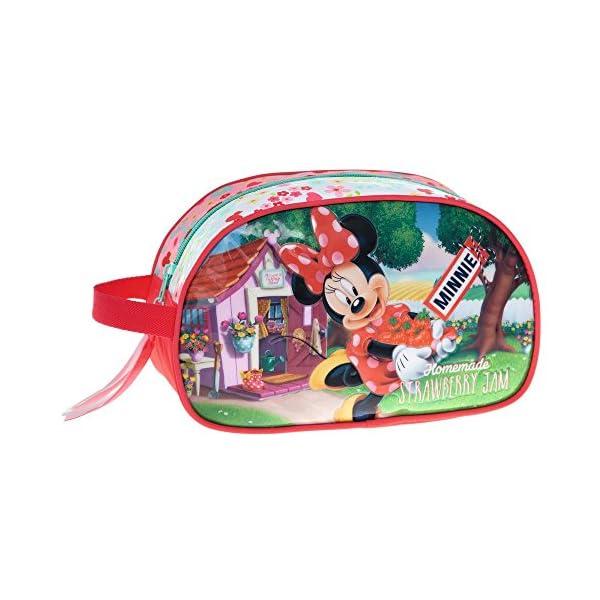 Disney Minnie Strawberry Neceser de Viaje, 3.36 litros, Color Rosa