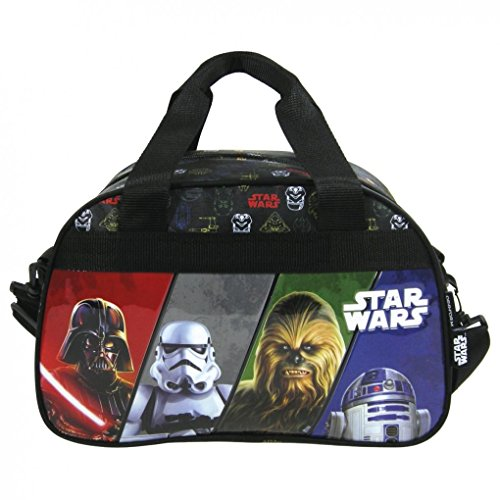 Familando Star Wars Schulranzen Set 17tlg. mit großer doppel Federmappe gefüllt 48-tlg., Regen-/Sicherheitshülle, Sporttasche, Schultüte 85cm, Dose und Trinkflasche schwarz - 5