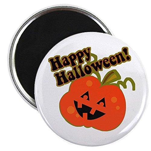 CafePress - Halloween Jack O Lantern - 5,7 cm runder Magnet, Kühlschrankmagnet, Button Magnet Stil