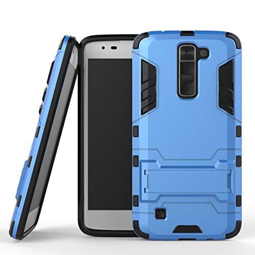 WindCase LG K7 Case, LG Tribute 5 Hülle, Hybrid Tasche Heavy Duty Defender [Drop Resistance] Dual Layer TPU +PC Case Ständer Schutzhülle für LG K7 / Tribute 5 Blau (Lg Tribute Defender Case Bling)