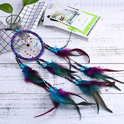 Gaddrt 55 cm Spitze Dream Catcher Feather Bead ideal für hängende Ornament Geschenk Decor