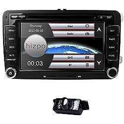 """Interface radio stéréo double DIN de 7"""" pour tableau de bord de voiture avec lecteur DVD système de support multimédia GPS USB SD radio FM AM RDS Bluetooth"""