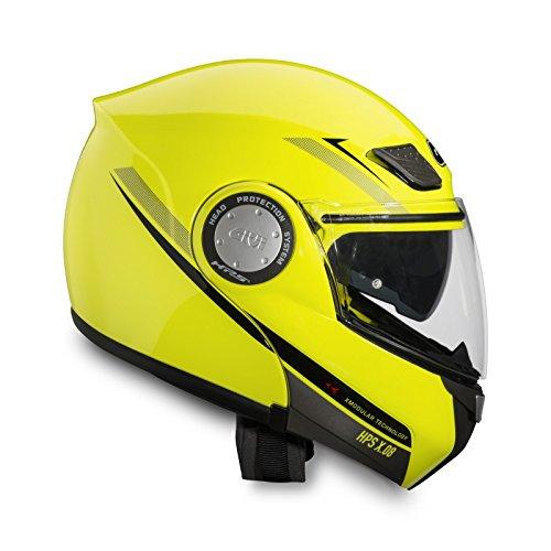 Casque Moto Intégral GIVI X.08 MODULAR jaune néon - XS
