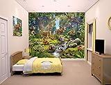 Familie24 XXXL Wandbild 243 x 305cm Auswahl Kindertapete Tapete Wanddekoration Wandbild Wandaufkleber Wandtattoo Feuerwehrman Sam Spiderman Minnie Micky (Tiere im Wald)