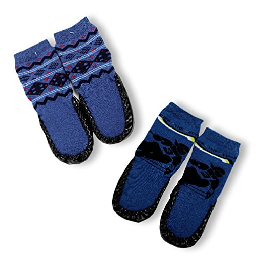slipper-socks-house-socks-set-of-2-boy-blue-size-s-8-cm-skf-01