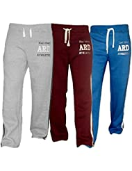ARD Men's Fleece Joggers Track Suit Bottom Jogging Exercise Fitness Boxing MMA Gym Sweat Fleece Trousers (Blue,Maroon,Grey)