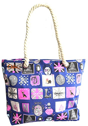 Octave , Borsa da spiaggia  Donna London Design - Navy