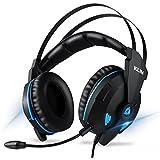 KLIM Impact V2 - Casque Gamer USB - Son 7.1 Surround + Isolation - Audio Haute Qualité + Fortes Basses - Micro Casque Gaming Jeux Vidéo pour PC PS4 Switch - Version 2