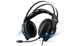 KLIM IMPACT V2 – Cascos Gaming USB - Sonido Envolvente 7.1 + Aislante de Ruidos - Audio de Alta Definición + Potentes Bajos – Auriculares de Diadema con Micrófono para Videojuegos PC PS4 - Versión 2