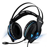 KLIM IMPACT - USB Gamer Headset - 7.1 Surround Sound + Noise Isolating - High definition Audio + Strong Bass - Gaming Video Games Headset with Microphone for PC PS4 [ New 2018 Version ]