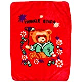 LE HAVRE® Super Soft Baby Blanket With Cute Teddy Bear Print, 1-3Years, Cherry Red