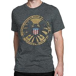 Marvel Avengers - Camiseta para hombre - Avengers S.H.I.E.L.D - Large