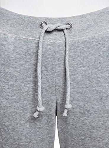 oodji Ultra Damen Sporthose mit Bindebändern Grau (2000M)