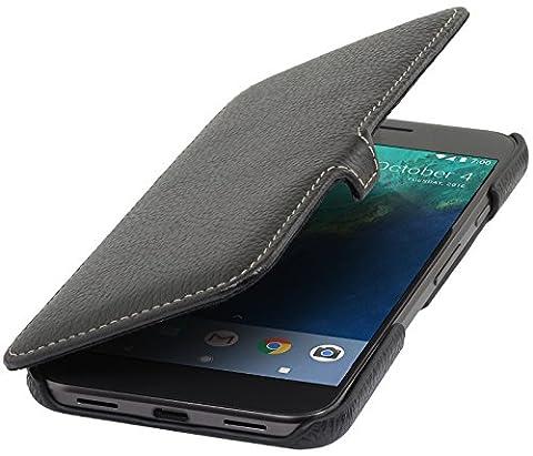 StilGut Book Type Case mit Clip, Hülle Leder-Tasche für Google