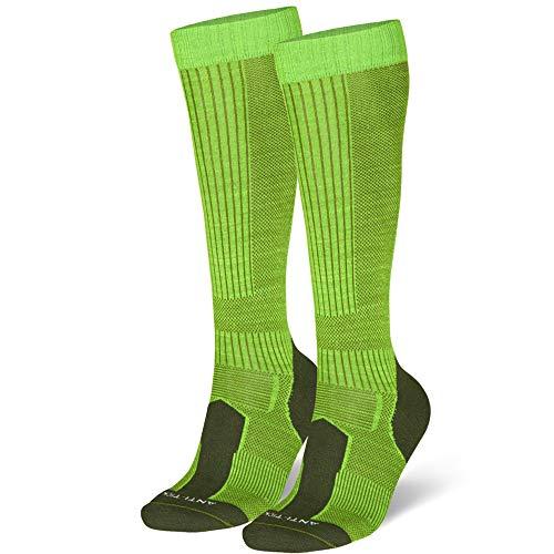 DANISH ENDURANCE Merino Outdoor-Socken mit Zecken- und Mückenschutz (EU 43-47, Hellgrün - 1 Paar) -