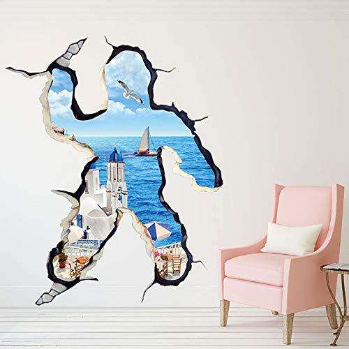 MEIWALL Warme selbstklebende Wasserdicht 3D Stereo Liebe Meer Wandsticker Wandaufkleber für Kinder Kinderzimmer Schlafzimmer Wohnzimmer Küche Kinderzimmer Wand Kunst Dekor Aufkleber - Wasserdicht Meeres Stereo