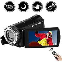 """Videokamera Camcorder Full HD 1080P 20.0MP Digitalkamera 3.0""""Drehbarer LCD-Bildschirm Nachtsicht Vlogging Kamera 16X Digitalzoom mit Fernbedienung"""