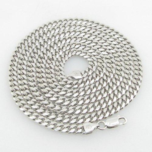 IcedTime-Silver-Necklace italienischem Sterling Silber Cuban Link Kette Länge–86,4cm Breite–5mm
