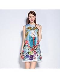 JIALELE mujer va lindo cambia por encima de la rodilla, vestidos estampados florales sin mangas