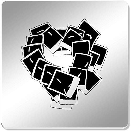 Azeeda 6 x 'Polaroid Herz' Spiegel Untersetzer (CR00063882)