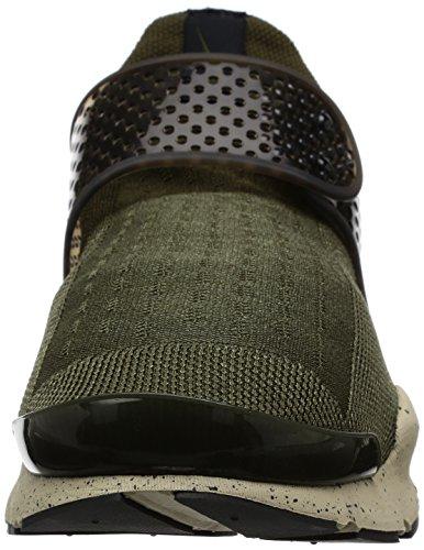 Nike Herren Sock Dart Laufschuhe Grün (Cargo Khaki/Black-RATTAN-Total Crimson)