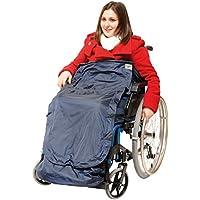 Ability Superstore 3-in-1 - Delantal para silla de ruedas, color azul marino