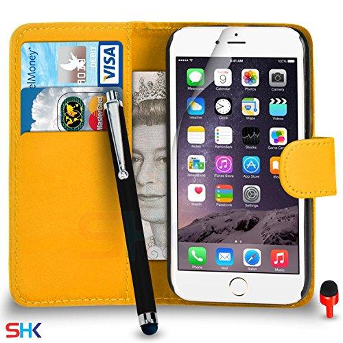 """Apple iPhone 6 / 6S Plus (5.5"""" Inch) Pack 1, 2, 3, 5, 10 Protecteur d'écran & Chiffon SVL2 PAR SHUKAN®, (PACK 5) Portefeuille Jaune"""