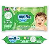 Molfix - Lotion - Lingettes Bébé - Paquets de 60 (x720 Lingettes)