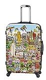 Koffer, Reisegepäck, Trolley by Heys - Premium Designer Hartschalen Koffer - Künstler Fazzino New York Koffer mit 4 Rollen Gross
