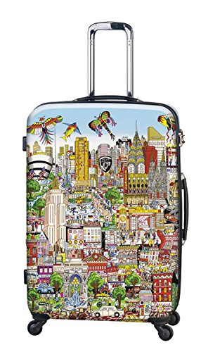 ... 50% SALE ... PREMIUM DESIGNER Hartschalen Koffer - Heys Künstler Fazzino New York - Trolley mit 4 Rollen Gross New York