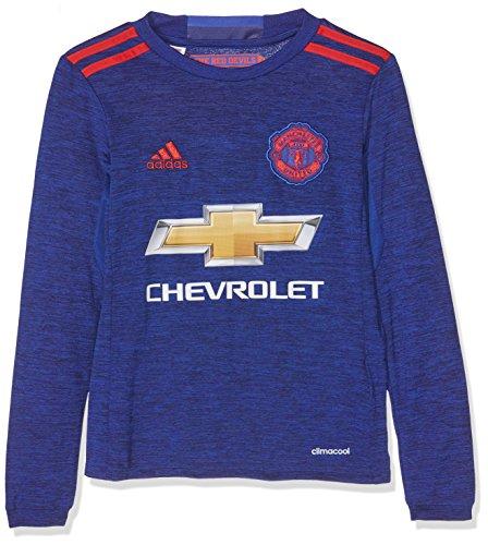 Adidas JSY Yl Camiseta 2ª Equipación Manchester United 2015/16, Niños, Azul/Rojo, 13-14 años