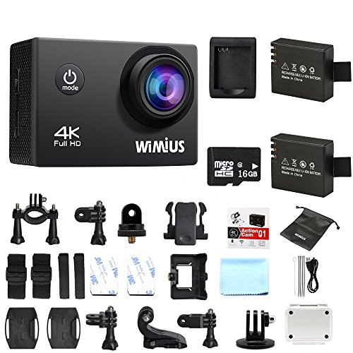 wimius actioncam 4k action cam wifi action kamera hd 16mp. Black Bedroom Furniture Sets. Home Design Ideas