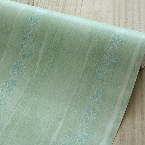 lovefaye selbstklebend Kontakt Papier Abnehmbare Regalen zum Abdecken Schubladen Schrank Türen, grün Holz Getreide, 45cm von 9.8Füße