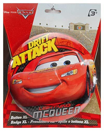 Lizenzartikel Cars McQueen XL Button zum Stellen 14cm Disney Buttons Anstecker Deko GED 119176