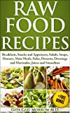 RAW FOOD RECIPES:  Breakfasts, Snacks and Appetizers, Salads, Soups, Dinners, Main Meals, Sides, Desserts, Dressings and Marinades, Juices and Smoothies (Raw Food Diet Book 2) (English Edition)