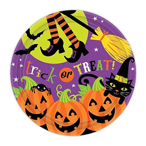 Behandlung Papier Platten 8Pk (Halloween Papier Platten)