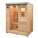 Home Deluxe – Infrarotkabine – Redsun L – Keramikstrahler – Holz: Hemlocktanne - Maße: 153 x 110 x 190 cm – inkl. vielen Extras und komplettem Zubehör - 3