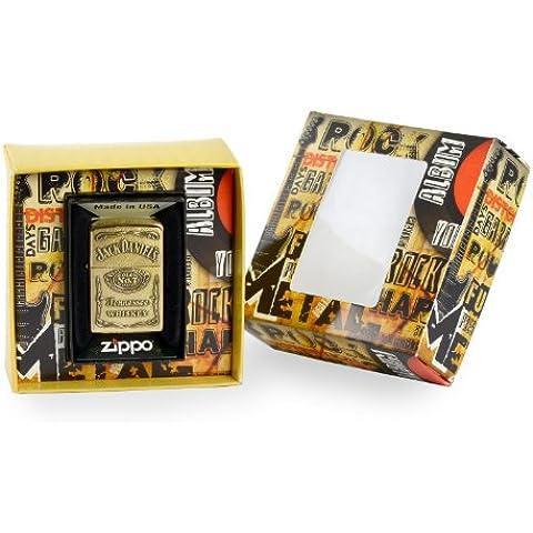 Zippo 1.350.003.1 Mechero de Jack Daniels Label de instrumentos de escudo, premium gift Set, special Edition, para la medición de