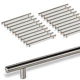 20 x SO-TECH® G18 Tirador de barra Manija barral Manija de mueble Tubo de Acero fino Ø -barra 10 mm / Distancia de agujeros 320 mm