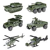 Alliage voiture jouets 6 Pcs feu militaire camion Machines de véhicule jouet enfants