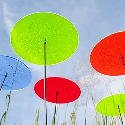 """SUNPLAY """"Sonnenfänger-Scheiben"""" im FARBMIX, 5 Stück zu je 20 cm Durchmesser im Set + 70 cm Schwingstäbe von SUNPLAY auf Du und dein Garten"""