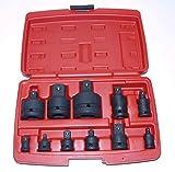 Craft-Equip 11 tlg. Schlagschrauber Adapter Satz Steckschlüssel 1/4