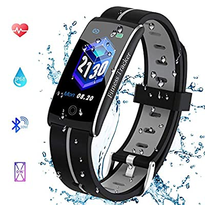 ding peng fei Smart Watch,IP68 Waterproof Activity Tracker Color Screen Watch with Heart Rate Monitor,Fitness Tracker with Sleep Monitors,Pedometer Stop Watch with Step Calorie Counter from ding peng fei